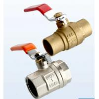 China 1/2 - 2 Inch Female Brass Ball Valve Iron Handle Sanitary Ball Valve on sale