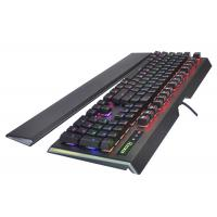 Cheap Waterproof USB Wired Multimedia Gaming Keyboard With Backlit , black for sale