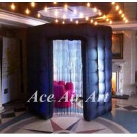 Quality unique 8ft octagon photo booth tent black inflatable photo booth with led for sale wholesale