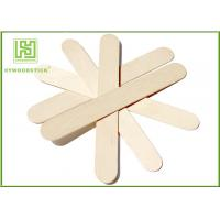 Quality Craft Stick Plain Taster Ice Cream Wooden Sticks Ice Cream Paddle Spoon Paper Wrapped wholesale