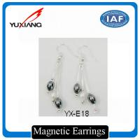 China Elegant Magnetic Therapy Jewelry Earring With Spring Closure Systems on sale