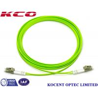 Quality OM5 Multimode Duplex Fiber Optic Cable Lime Green 10m 20m 30M Lenth PVC LSZH wholesale
