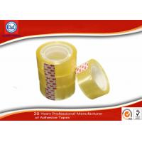 Quality Yellowish transparent Easy Tear 12mm BOPP Stationery Tape For Art School Student wholesale