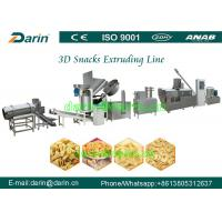 Quality Full automatic Fried 3D Papad pellet Snacks food extruder machine production line wholesale