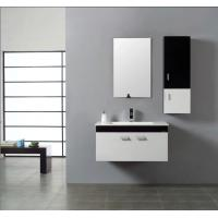 Quality 16 mm door thickness painting bathroom cabinets , single sink vanity cabinets with Faucet wholesale