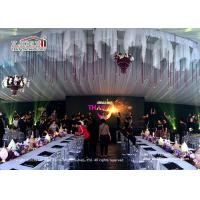 China luxury wedding tents 20*50m with Pvc cover and aluminum frame for sale on sale