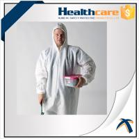 Quality 25G PP White Anti Static Disposable Coveralls With Hood And Shoe Cover wholesale