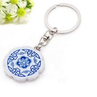 Buy cheap Chinese Celadon Porcelain Metal Key Chain Hook Key Ring from wholesalers