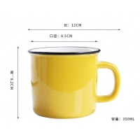 Quality Mixed Color 350CC 12x8.5x8.2cm Personalised Ceramic Mugs wholesale