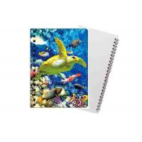 China Sea Animal Image Custom Printed Spiral Notebooks 3D Cover High Definition on sale