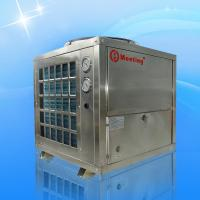 Stainless steel air source heat pump , heating water , heat  house ,  save power , easy controling , safe and efficient