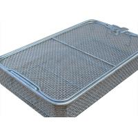 Quality 304 Stainless Steel Wire Mesh Medical Disinfection Basket 40cm x 25cm x 7cm Size wholesale