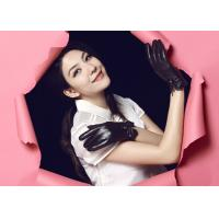 Quality OEM Women Fashion Black / Brown/Cherry/Wine Leather Gloves Ladies Daily Life or Party Use wholesale