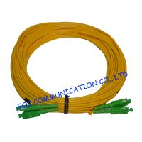 Quality PVC SM Fibre Optic Patch Cables SC / APC Duplex Low Insertion Loss wholesale