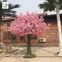 Quality UVG beach wedding ideas fake flowers silk cherry blossom tree for stage backdrop decoration CHR142 wholesale