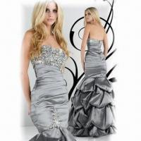 Quality Silver Taffeta Mermaid Evening Prom Dress, Available in Various Colors wholesale