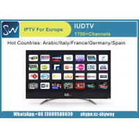 Quality 12 Months IUDTV 1700 Europe Arabic HD IPTV Subscription kodi list mag 250 V88 android tv converter box wholesale