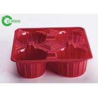 China Crack Resistance Disposable Cup Holder Tray For Four Cups 17.6 * 17.6 * 5.1 CM on sale