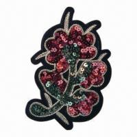 Quality Embroidered patch/motifs/embroidered motif, customized designs are accepted wholesale