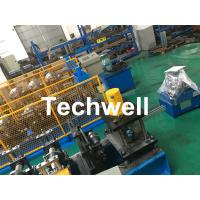 Quality Carbon Steel Shutter Door Guide Rail Roll Forming Equipment With 16 Roller Stations wholesale