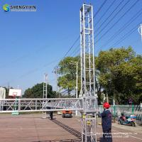 China Popular aluminum truss with roof DJ booth truss Event stage scene Portable truss/lighting lifter /truss lift tower on sale
