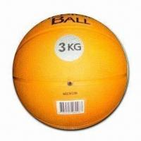 Cheap 3kg Rubber Medicine Ball/Weight Ball, Suitable for Body Strengthening for sale