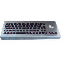 Quality Desktop movable illuminated metal keyboard with integrated trackball IP65 wholesale