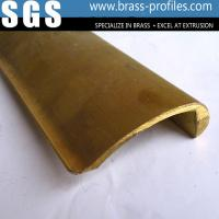 Quality Customer Designed Golden Yellow Extruded Pen Clips Brass Profiles wholesale