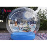 Quality Snow Globe Blow Up Christmas Ball Inflatable Holiday Decor For Special Events And Occasions wholesale