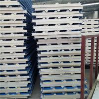Quality insulated 0.376mm polyurethane foam sandwich roof panel used in cold storage wholesale