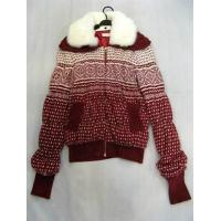 China Rabbit Collar Wool Knitwear Sweater Outerwear  fashion clothing on sale  on sale