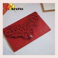 Cheap wedding invitation card  baby shower invitation cards 2016 decorated paper for  wholesale red pearl  small rhinestone for sale