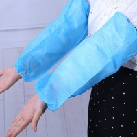 China Breathable White Blue 20*40cm Nonwoven Sleeve Cover on sale