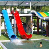 Quality Water Park Swimming Pool Slides , Fiberglass Barrel And Sled Slides wholesale