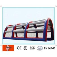 Quality OEM Multi-Color Inflatable Batting Cages , Inflatable Driving Range / Baseball Cage For Sports Playground wholesale