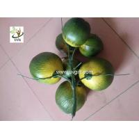 China UVG PTR045 high simulation plastic artificial coconut for palm tree decoration on sale
