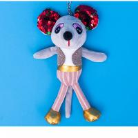 China Smooth Feeling Plush Keychain Toys Big Ear Mouse Shape Super Soft Fabric on sale