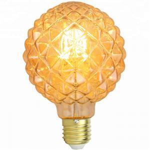China Pineapple G95 Edison Filament Bulbs Amber 8w Led Edison Bulb E27 Dimmable on sale