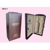 Quality OEM Wooden Single Wine Packaging Boxes With Hot Stamping Logo wholesale