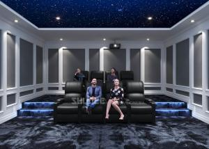 Quality Home Cinema System With Black Recliner Sofa / Projects / Speakers / Screen wholesale