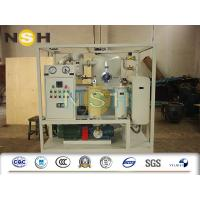 Quality High Voltage Transformer Oil Purifier , Dehydrator Safe Operation Oil Purification Systems wholesale