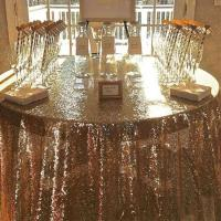 Quality Hot sales high quality glitter 72 inch round table cloth sequin for hotel wedding wholesale