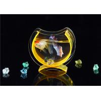 Quality Small Acrylic Fish Tank / Desktop Fish Bowl With Cololful Stones wholesale