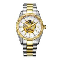 Quality Popular Automatic Mens Wrist Watches Gold Plated CE ROHS Approved wholesale