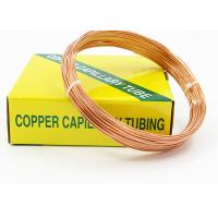 Quality HAVC Copper Capillary Tube For Cooling Pipes Outer Diameter 1.83 - 3.69 MM wholesale