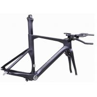 Quality Di2 Compatible Carbon Triathlon Bike Frame 700C BSA / BB30 For Racing TT Bicycle wholesale