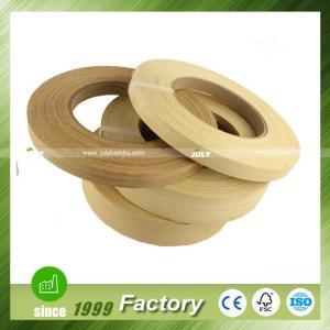 China Bamboo edge banding veneer -150meter /roll thickness 0.5mm on sale