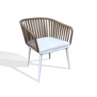 Quality 830mm Height 600mm Depth Rattan Outdoor Chair Steel Frames wholesale