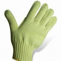 Quality Kevlar/Cotton Cut Resistant Knitted Gloves with or without Leather, Special Reinforcement at Thumb wholesale