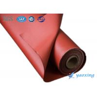 Quality Industrial Silicone Rubber Coated Fiberglass Fabric / Silicone Impregnated Fabric wholesale